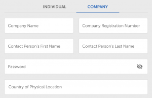 register company account