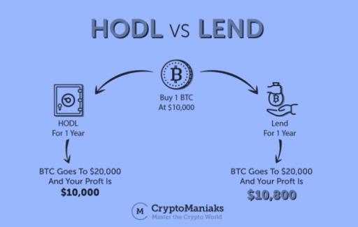 hodling vs lending