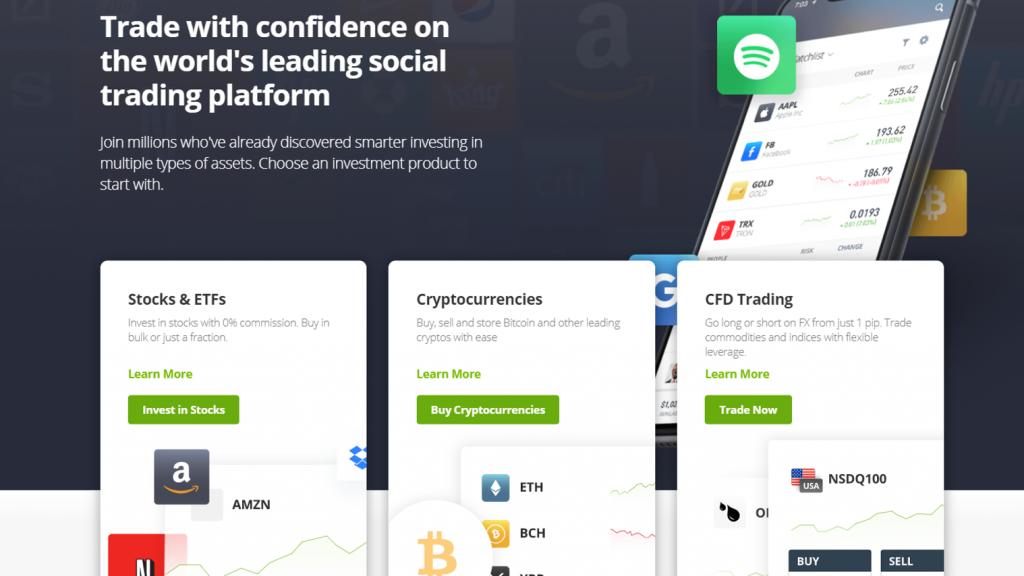 eToro forex trading platform