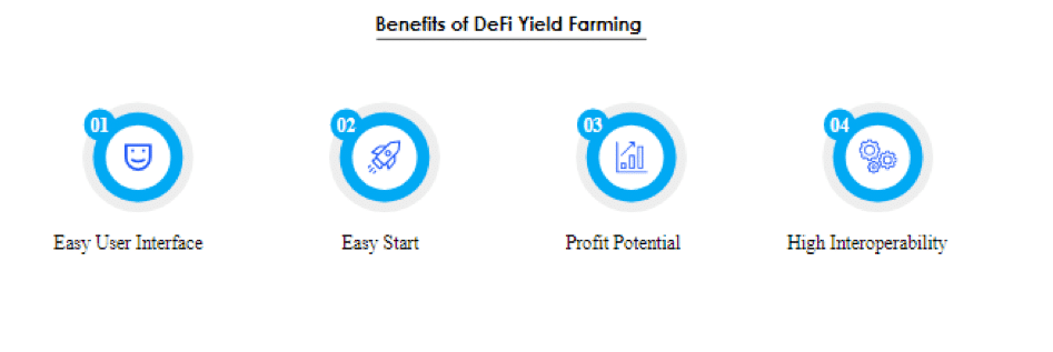 Benefits of DeFi yield farming