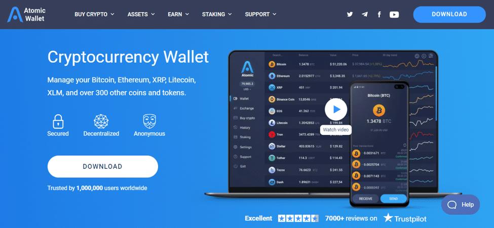 atomic wallet to store crypto