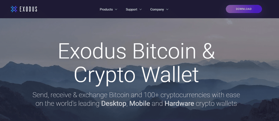 exodus wallet to store crypto