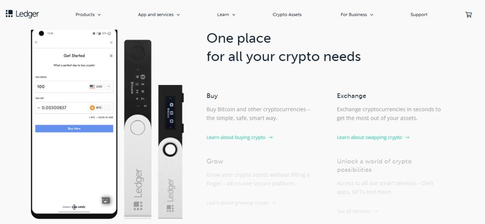 ledger nano crypto storage